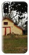 Yellow Barn Closeup IPhone Case