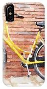 Yellow Bicycle Digital Watercolour IPhone Case
