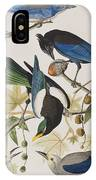 Yellow-billed Magpie Stellers Jay Ultramarine Jay Clark's Crow IPhone Case