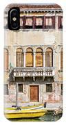 Yellow Boat - Venice Italy IPhone Case