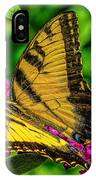 Yellow Butterfly In The Garden IPhone Case
