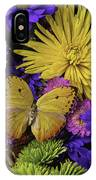 Yellow Butterfly On Bouquet IPhone Case