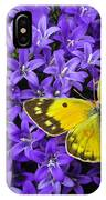 Yellow Butterfly On Mee IPhone Case