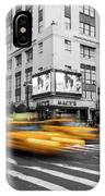Yellow Cabs Near Macy's Department Store, New York IPhone Case