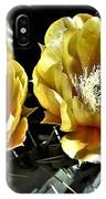 Yellow Cactus Flowers IPhone Case