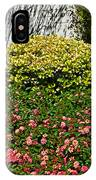 Yellow Coleus And Lantana At Pilgrim Place In Claremont-california IPhone Case