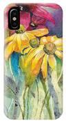 Yellow Coneflower IPhone Case
