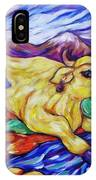 Yellow Cow Jumps The Creek IPhone Case