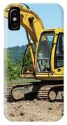 Yellow Excavator In Anacortes IPhone Case