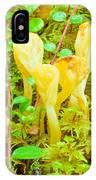 Yellow Fairy Fan Mushrooms Spathularia Flavida IPhone Case