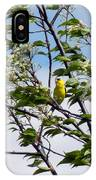 Yellow Finch And Flowers IPhone Case