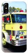 Yellow Fire Truck IPhone Case
