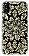 Yellow Floral Ornament Design IPhone Case