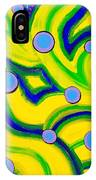 Yellow Green Blue Swirls IPhone Case
