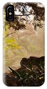 Yellow Leaves In The Mist IPhone Case