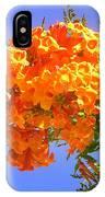 Yellow-orange Horn Flowers 01 IPhone Case