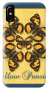 Yellow Pansy Butterfly Wheel IPhone Case