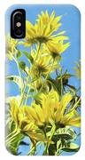 Yellow Posies Gazing At The Sky  IPhone Case