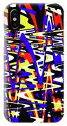 Yellow Red Blue Black And White Abstract IPhone Case