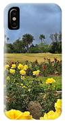 Yellow Roses And Dark Sky IPhone Case
