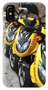 Yellow Scooters IPhone Case