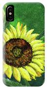 Yellow Sunflowers On Green IPhone Case
