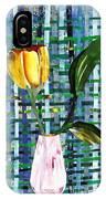 Yellow Tulip In A Pink Vase IPhone Case