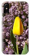 Yellow Tulip In The Garden IPhone Case