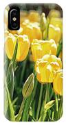 Yellow Tulip Panoramic IPhone Case