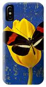 Yellow Tulip With Orange And Black Butterfly IPhone X Case