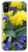 Yellow Tulips And Violets IPhone Case