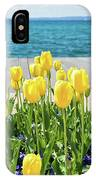 Yellow Tulips Near Lake IPhone Case