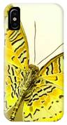 Yellow Wings In Gold IPhone Case