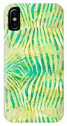 Yellow Zebra Print IPhone Case
