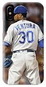 Kansas City Royals, Yordano Ace Ventura,  Painting, Forever Blue IPhone Case