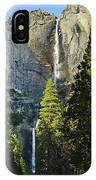 Yosemite Falls With Late Afternoon Light In Yosemite National Park. IPhone Case