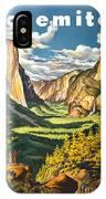 Yosemite Park Vintage Poster IPhone Case