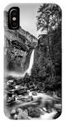 Yosemite Waterfall Bw IPhone Case