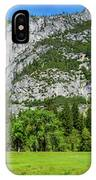 Yosemite West Valley Meadow Panorama #2 IPhone Case