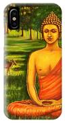 Young Buddha Meditating In The Forest IPhone Case