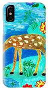 Young Deer Drinking IPhone Case