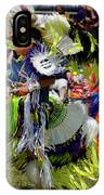 Young Native Indian  Boys Dancing In Tiny Tots Competition At A  IPhone Case