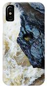 Yuba Blue Boulder In Stormy Waters IPhone Case