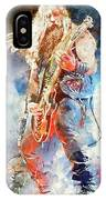 Zakk Wylde - Watercolor 09 IPhone Case