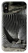 Zebra 2 IPhone Case