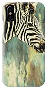 Zebra Abstracts Too IPhone Case