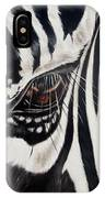 Zebra Eye IPhone Case