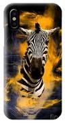 Zebra In Africa IPhone Case