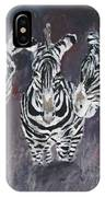 Zebra Oil Painting IPhone Case