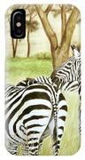 Zebra Pals IPhone Case